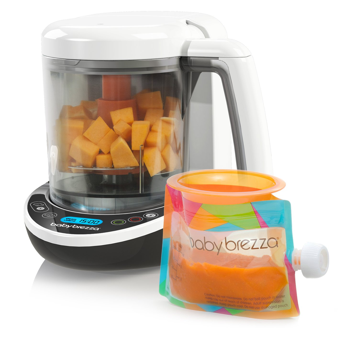 Buy Baby Brezza Small Baby Food Maker Set – Cooker and Blender in One to  Steam and Puree Baby Food for Pouches - Make Organic Food for Infants and  Toddlers - Includes