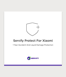 Servify Protect - 1 Year Accident and Liquid Damage Plan for Xiaomi Devices Between Rs. 8001 to Rs. 12000