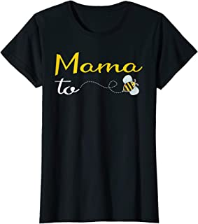 Womens Mama To Bee Baby Shower Funny Mommy Pregnancy Gift Tshirt