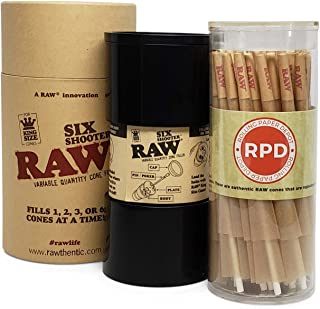 RAW Six Shooter Cone Filler with 50 RAW Classic King Size Cones