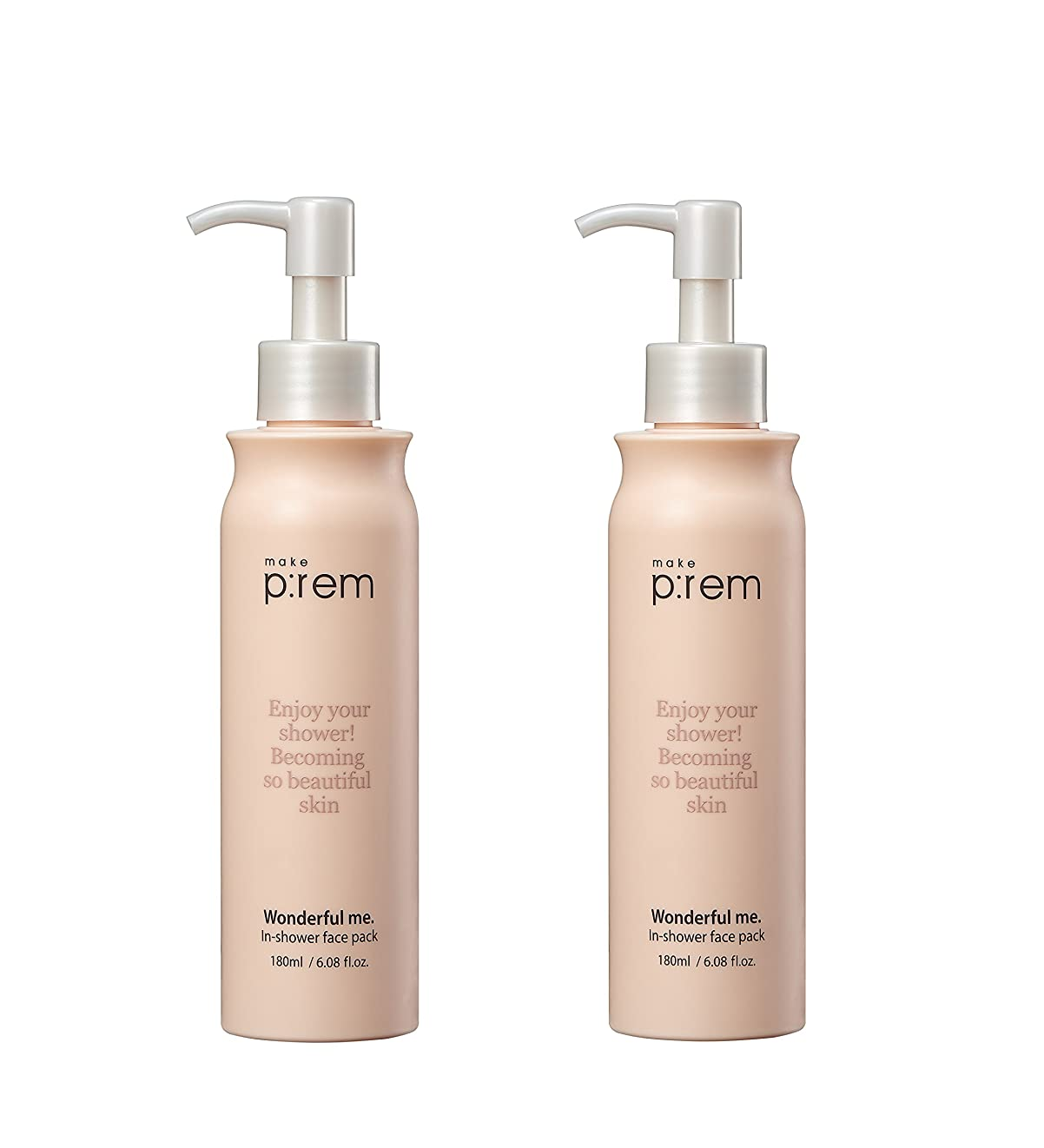 時計献身年(2個セット) x [MAKE P:REM] wonderful me. in-shower face pack シャワーのフェイスパック 180ml シャワーパック / 韓国製 . 海外直送品