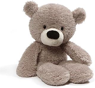 GUND Fuzzy Teddy Bear Stuffed Animal Plush, Gray, 13.5 inch
