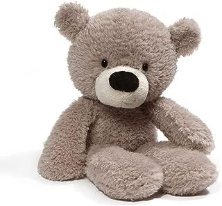 GUND Fuzzy Teddy Bear Stuffed Animal Plush, Gray, 13.5