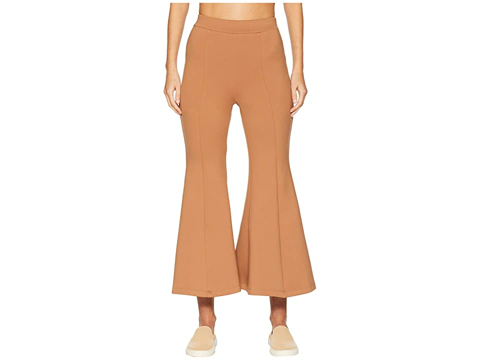 Cushnie et Ochs High-Waisted Cropped Neoprene Flare Pants (Caramel) Women