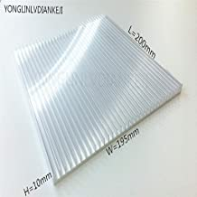 YONGLINLVDIANKEJI 1PCS Aluminum Radiator Fin LED Light Heat lababo 200x195x10mm