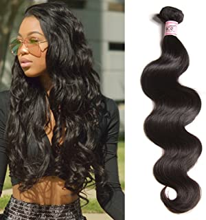 UNice Hair Icenu Series 8A Brazilian Body Wave Virgin Hair 1 Bundle, Raw Unprocessed 100% Virgin Human Hair Weave 95-100g/pc Natural Color (10)