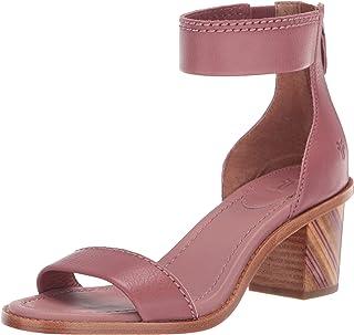 FRYE Women's Brielle BIAS Zip Flat Sandal, mauve, 7.5 M US