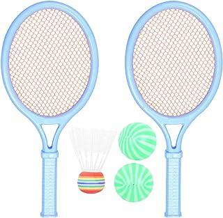 Conjunto de raquete de tênis infantil com 2 peças da CLISPEED com raquete de plástico para badminton, raquete, jogos, equi...