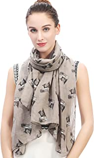 Lina & Lily Yorkshire Terrier Yorkie Dog Print Women's Scarf Lightweight