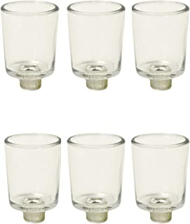 IMA BRASS 12pcs Clear Glass Votive Tea Light Holder with 7/8 in peg.