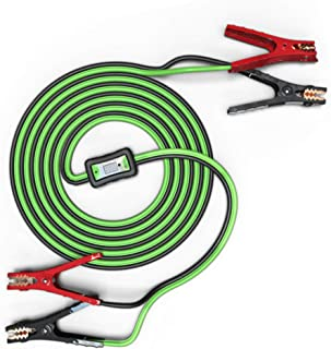 Smart Booster Cables - Battery Jumper Cables with Reverse Hook Up Protection and Battery Tester - Stops Current and Beeps if Connected Wrong - 12-Foot 6-Gauge Jumper Cables for Your Car, Truck or SUV