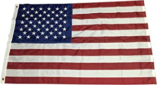 G Ganen 3ft X 5ft American Flag, USA Flag, Embroidered Stars Durable and Long Lasting Fade Resistant to Uv Rays Four Stitches on Fly Hem Gre