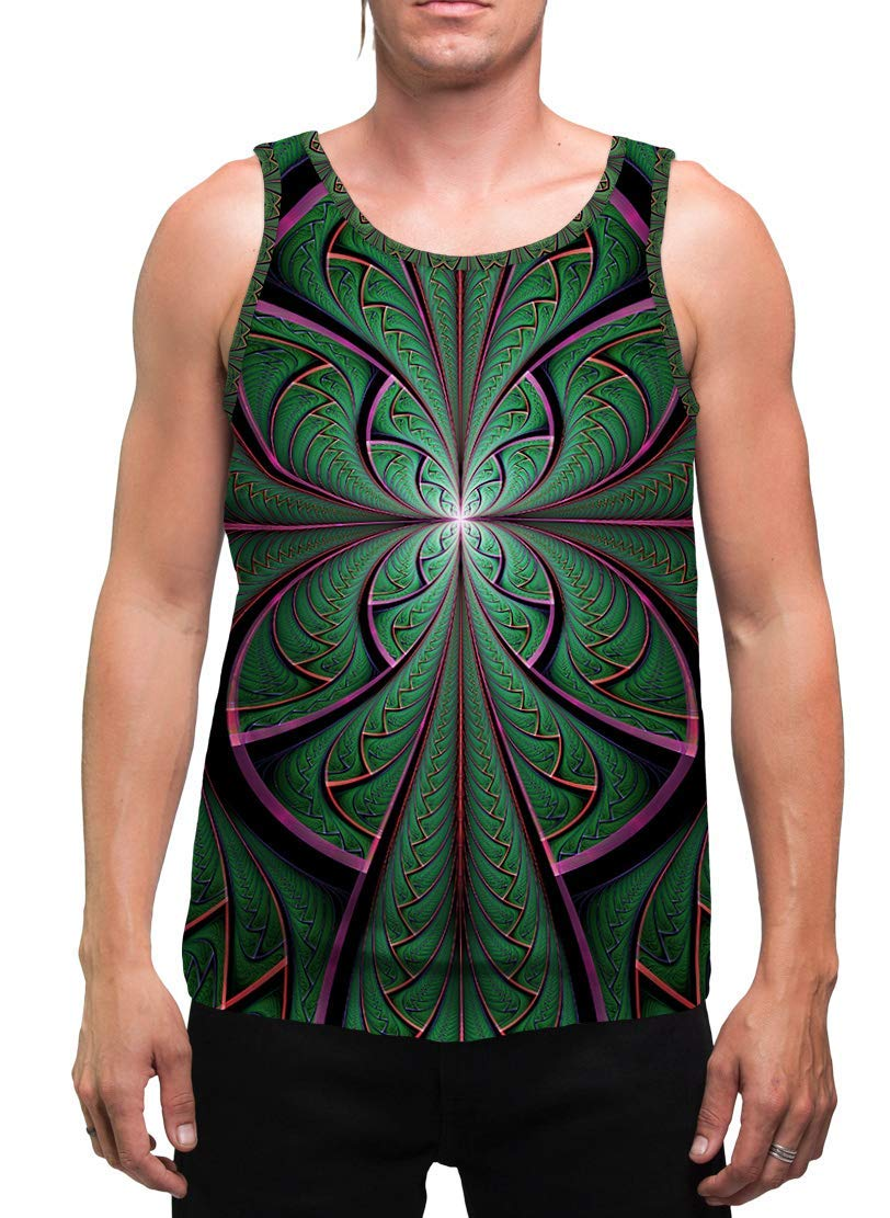 Fees free!! Trippy Mens Tank Top Psychedelic for Year-end annual account Men Ayahuasca DMT
