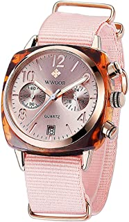 WWOOR Ultraplano Reloj de Mujer Reloj Redondo Dial,Reloj de Pulsera Para Mujer Niña Resistente al Agua con Cuarzo, Analógi...