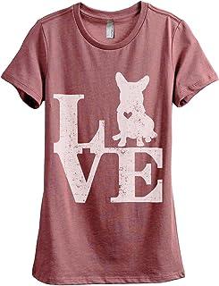 Love Corgi Dog Women's Fashion Relaxed T-Shirt Tee