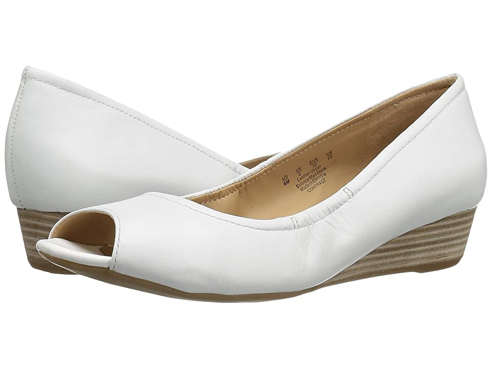 Naturalizer Contrast (White Leather) Women