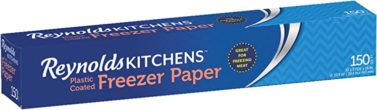 Reynolds Freezer Paper Plastic Coated 18 Inch Total Of 150 Sq Ft Butcher Wrap Paper, Great Also For Arts & Crafts, Shelving, Protection, Banners Etc. (Original Version)