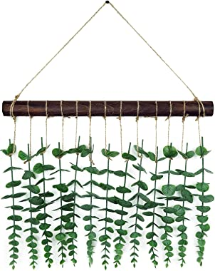 SOMTO Artificial Eucalyptus Wall Decor - Farmhouse Hanging Fake Eucalyptus Leaves Greenery Plant for Bedroom, Nursery and Bat