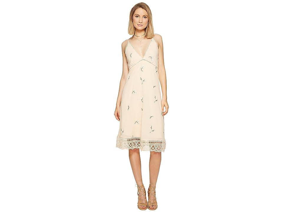 BB Dakota Haleigh Embroidered Dress (Peach Blossom) Women
