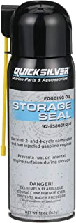 Quicksilver 858081Q03 Storage Seal Engine Fogging Oil, 12oz - for 2-Stroke, 4-Stroke and Fuel-Injected Gas Engines