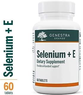 Genestra Brands - Selenium + E - Helps Prevent Cellular Free Radical Damage* - 60 Tablets