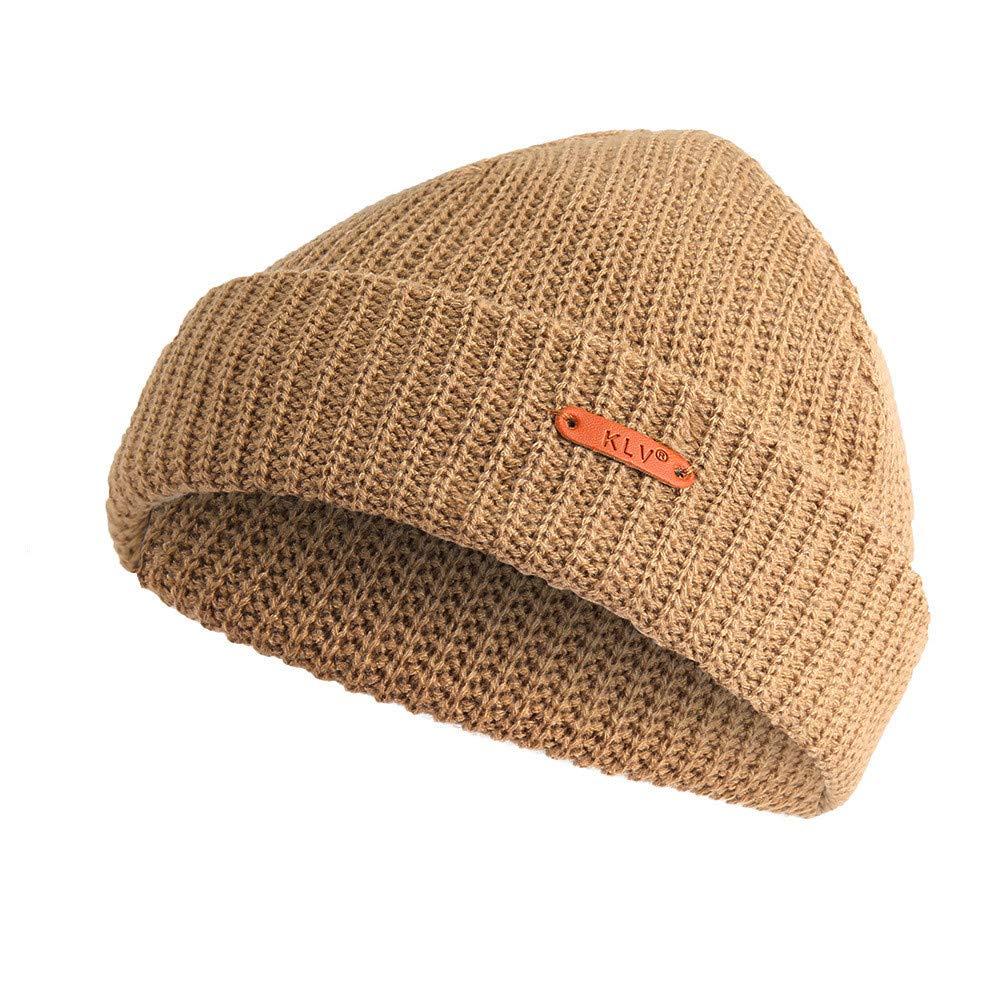 Unisex Wool Knit Ski Baggy Warm Cap Winter Mens Womens Slouchy Beanie D Gray GJ