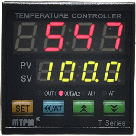 EgalBest MYPIN TA6-SNR Temperature Controller Dual 4 LED PID Heating Cooling Control TC//RTD Input SSR Output 1 Relay Alarm Thermostat