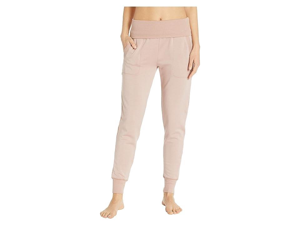 Beyond Yoga Fleece Fold-Over Sweatpants (Brazen Blush) Women