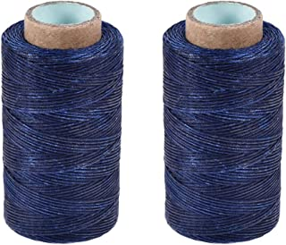 uxcell Leather Sewing Thread 273 Yards 150D/1mm Polyester Flat Waxed Cord for Hand Stitching Leather Bookbinding,Craft DIY...