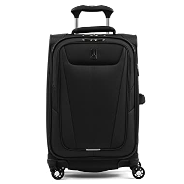 Travelpro Maxlite 5-Softside Expandable Spinner Wheel Luggage, Black, Carry-On 21-Inch