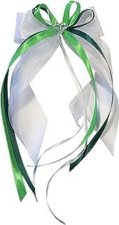 Antennenschleife Autoschleife Autoschmuck Hochzeit SCH0020 weiß grün hellgrün 10 Stück