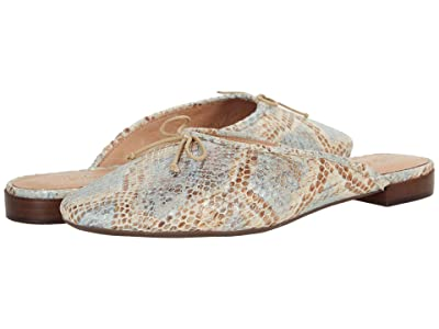 Madewell The Adelle Mule in Snake Embossed Leather (Feather Blue) Women