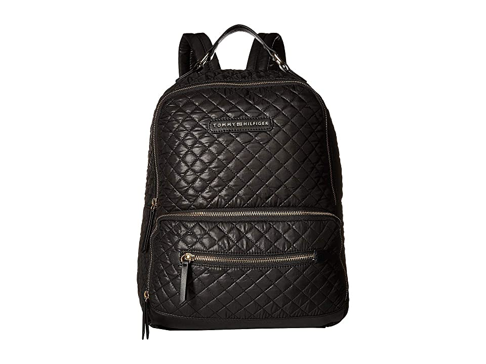 Tommy Hilfiger Alva Backpack Quilted Nylon (Black) Backpack Bags