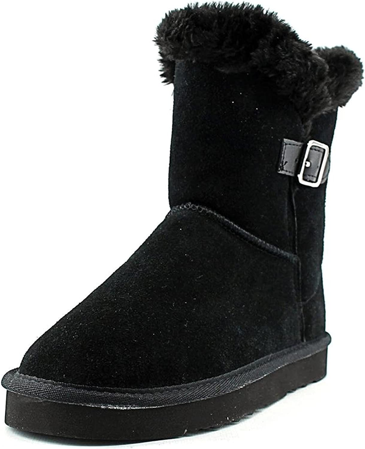 Style & Co. Womens Tiny 2 Suede Closed Toe Mid-Calf Cold, Black, Size 6.0