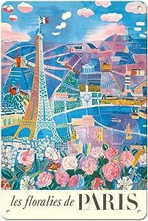 Pacifica Island Art 8in x 12in Vintage Tin Sign - The Flowers of Paris, France (Les floralies de Paris) - Eiffel Tower by Raoul Dufy