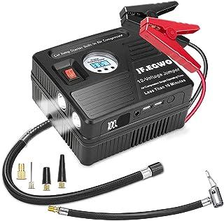 JF.EGWO 2000A Peak Car Jump Starter with Air Compressor, 120PSI Tire Inflator with Digital Screen Pressure Gauge, 20000mAh 12V Auto Battery Booster (8.0L Gas/ 5.5LDiesel Engine), 2 USB Port 2 Light