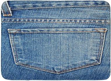 AoLismini Alfombrillas Alfombras de baño Alfombrilla para Exteriores/Interiores Denim Blue Jeans Bolsillo Espalda Western Cou