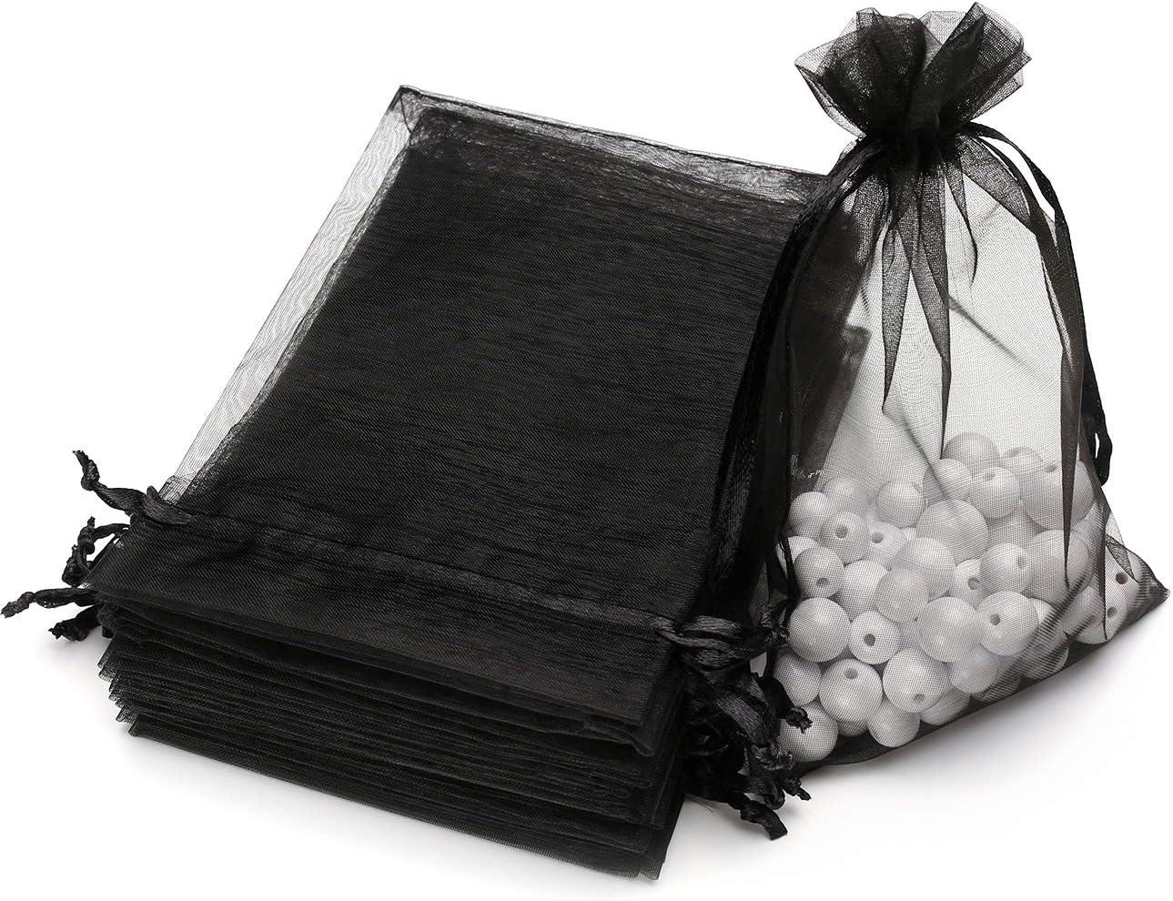 guest gift baptism wedding Grey Organzat\u00e4schchen gift wrapping 2550100200 70 x 90 mm Organzas\u00e4ckchen silver grey grey organza bag