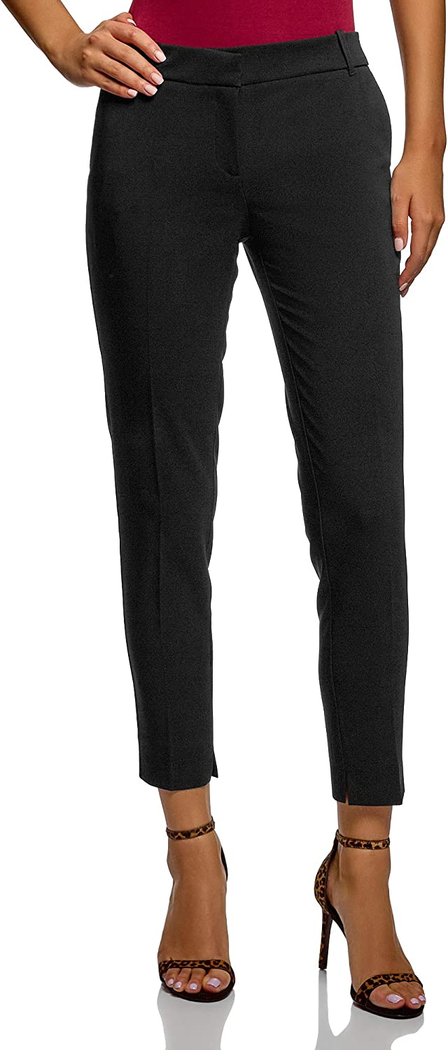 oodji Collection Women's Basic Pleated Trousers