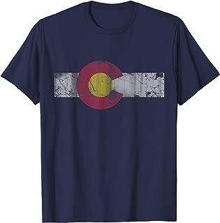 Vintage Patriotic Flag of Colorful Colorado T-Shirt T-Shirt