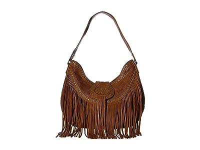 Scully Amanda Fringe Shoulder Bag (Brown) Handbags