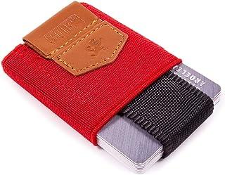 Premium Slim Wallet con cordón & Monedero – el elástico Tarjetero & Mini Monedero de tela – Tarjetas, billetes y monedas –...