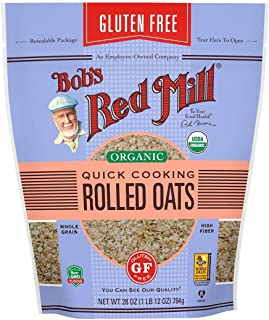 Bob's Red Mill (Resealable) Gluten Free Organic Quick Cooking Oats, 28-ounce (Pack of 4)