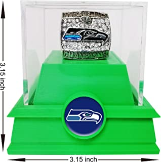 Nine Culture Replica Championship Ring for 2013 Seattle Seahawks Super Bowl Collectible Gift Fashion Ring(size8-13) with A Plastic Box