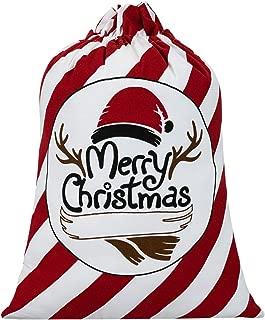hblife Personalized Santa Sack, Bag Santa Bag Cotton with Drawstring Size 27