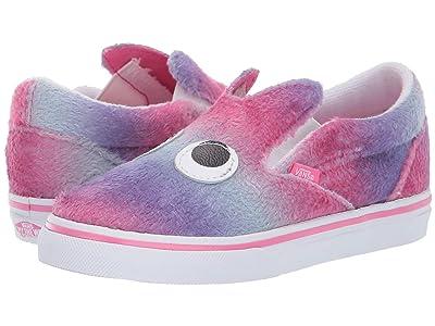 Vans Kids Slip-On Friend (Infant/Toddler) ((Party Animal) Ombre/True White) Girls Shoes