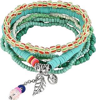 MengPa Beaded Bracelets for Women Girls Bohemian Stackable layering Strand Statement Jewelry