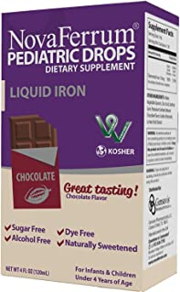 NovaFerrum Pediatric Drops Liquid Iron Supplement for Infants and Toddlers 120 mL – Chocolate Flavor