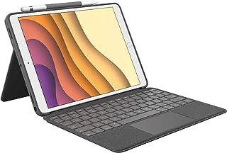 """Logitech Combo Touch iPad Air (3. Nesil) A2152, A2123, A2153, A2154 ve iPad Pro 10,5"""" A1701, A1709, A1852, Trackpad, Çıkar..."""