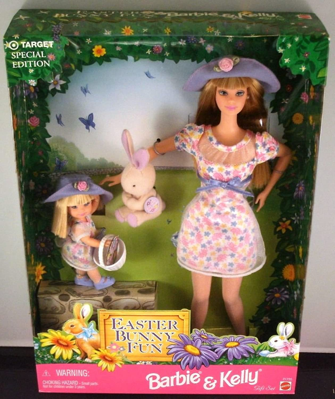 Mattel Easter Bunny Fun Barbie & Kelly Gift Set